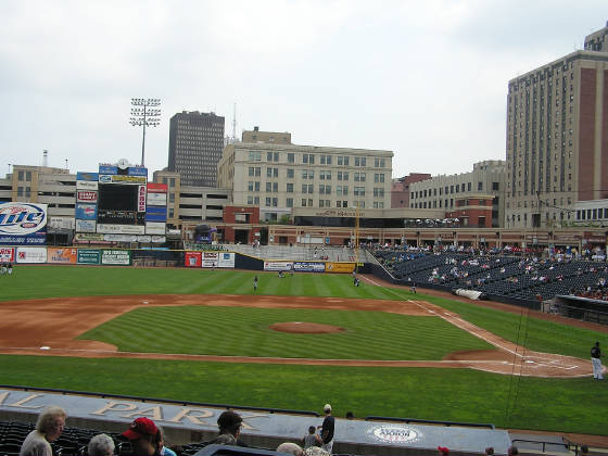 Looking to Right field - Canal Park, Akron