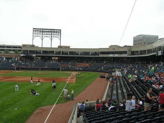 Looking in from Left Field - Canal Park, Akron