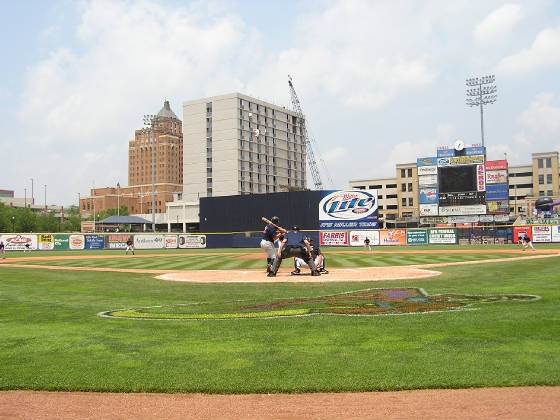 Canal Park - From behind Home Plate - Akron, Oh