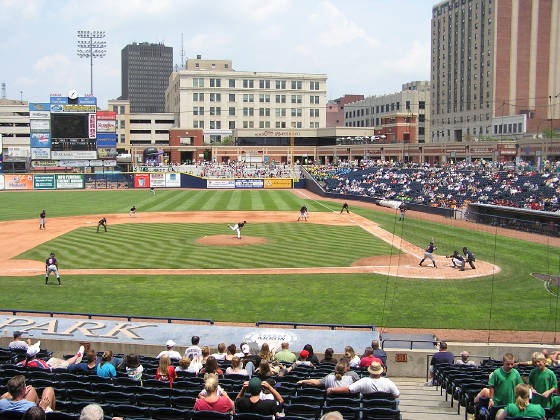 Looking at Right Field in Canal Park