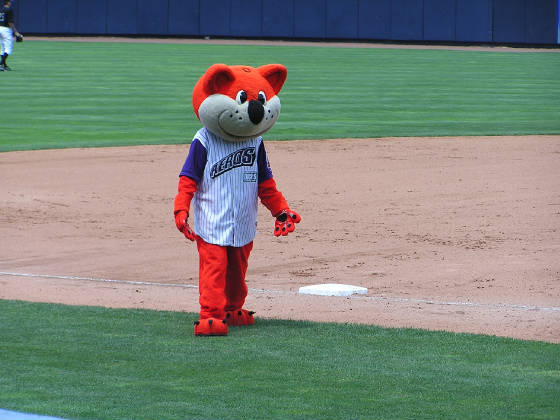 Orbit, the Aeros Mascot - Canal Park, Akron